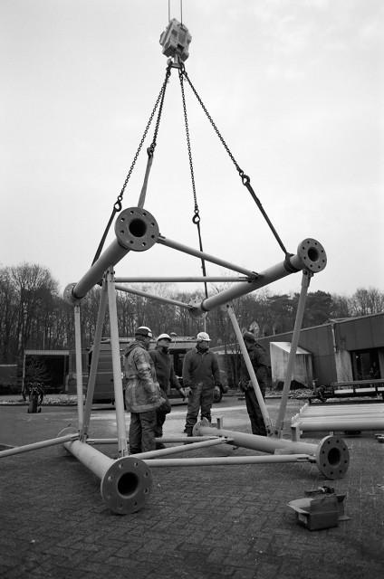 Ombouw van de toren in Hilversum
