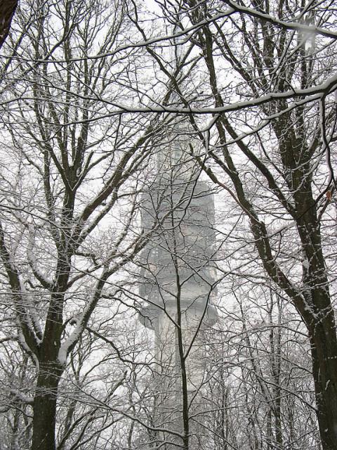 De mediatoren in Hilversum in de sneeuw