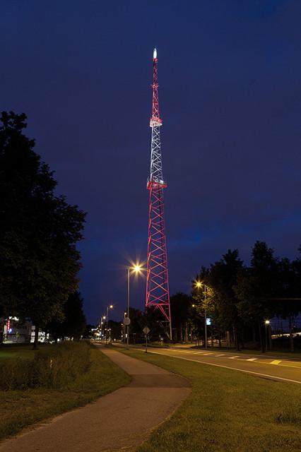 De communicatietoren aan de nieuwe hemweg