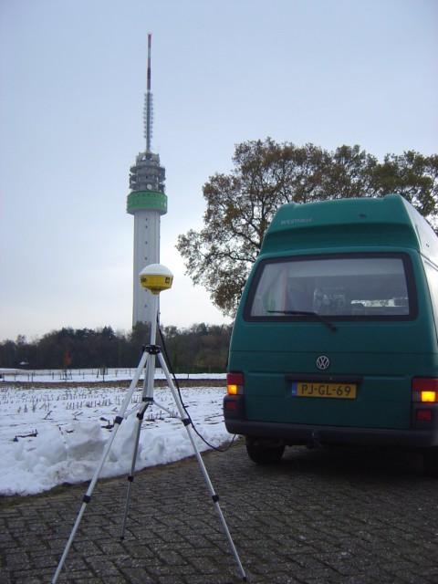 Site survey bij de toren van Markelo