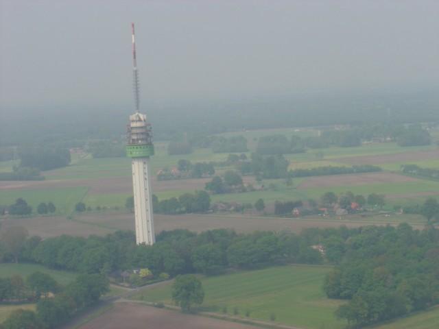 De TV-toren van Markelo vanuit de lucht