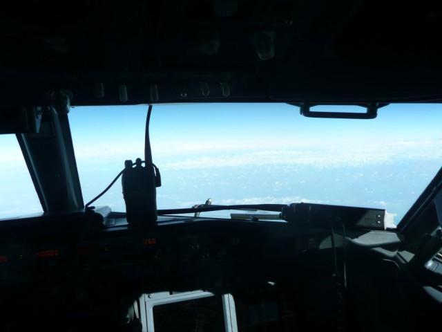 Px777 foto qrv vanaf 10.000 feet vanuit cockpit 737-800
