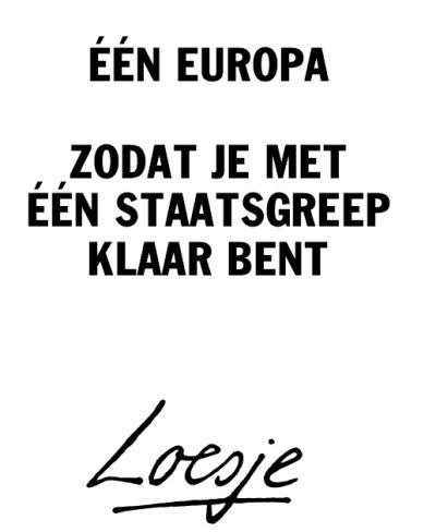 Loesje ├®├®n europa